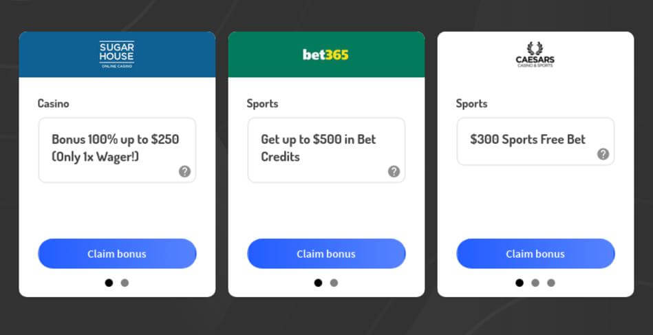 Bonus Codes for Legal Bookmakers and Casinos in USA